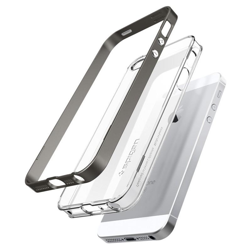 Spigen Neo Hybrid Crystal iPhone SE / 5S / 5 Gunmetal - 3