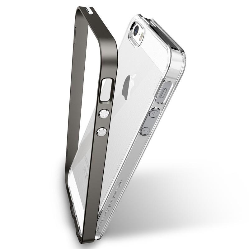 Spigen Neo Hybrid Crystal iPhone SE / 5S / 5 Gunmetal - 5