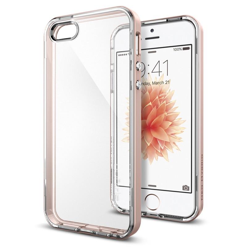 Spigen Neo Hybrid Crystal iPhone SE / 5S / 5 Rose Gold - 4