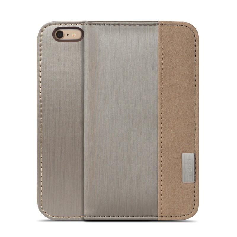 Moshi Overture Wallet Case iPhone 6 Plus Brushed Titanium - 1
