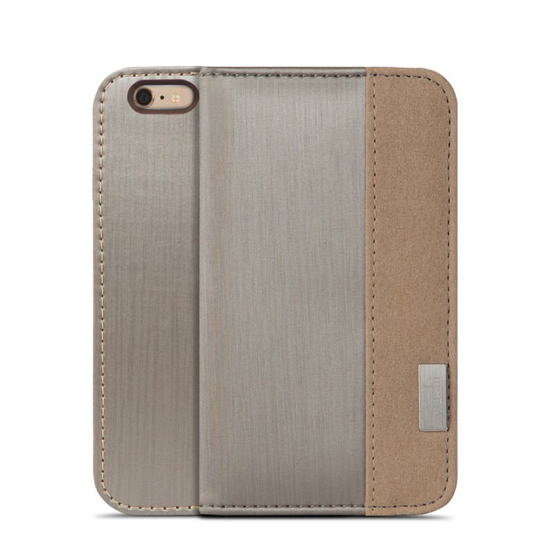 Moshi Overture Wallet Case iPhone 6 Brushed Titanium - 1
