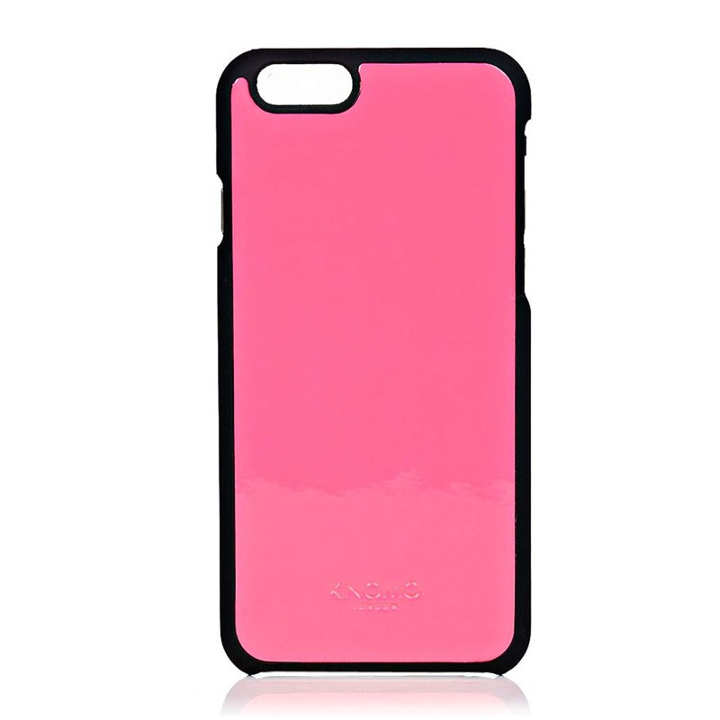 Knomo Leather Snap On iPhone 6 Pink - 2