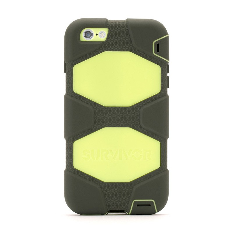 Griffin Survivor Case iPhone 6 Plus Olive/Lime - 2