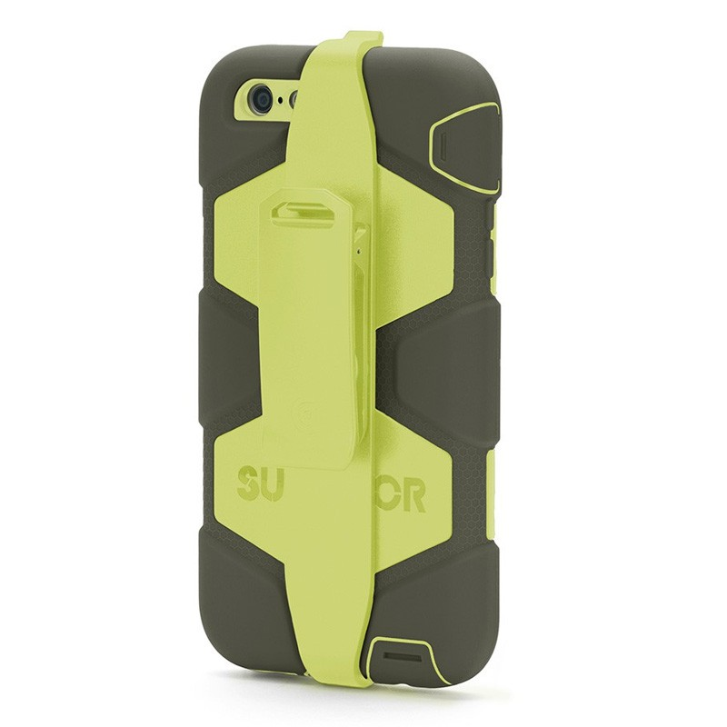 Griffin Survivor Case iPhone 6 Plus Olive/Lime - 3