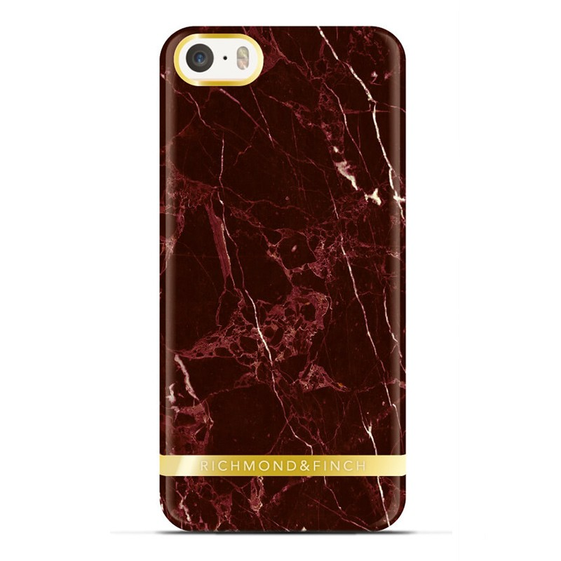 Richmond & Finch - Marble Case iPhone SE / 5S / 5 Red 01