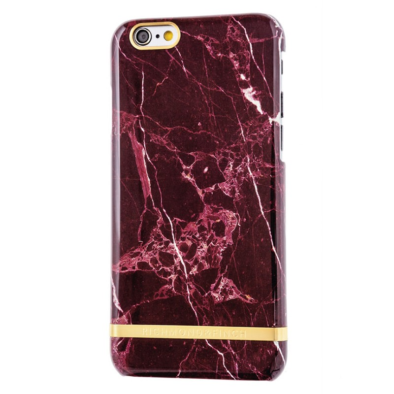 Richmond & Finch - Marble Case iPhone 6 Plus / 6S Plus Red 01