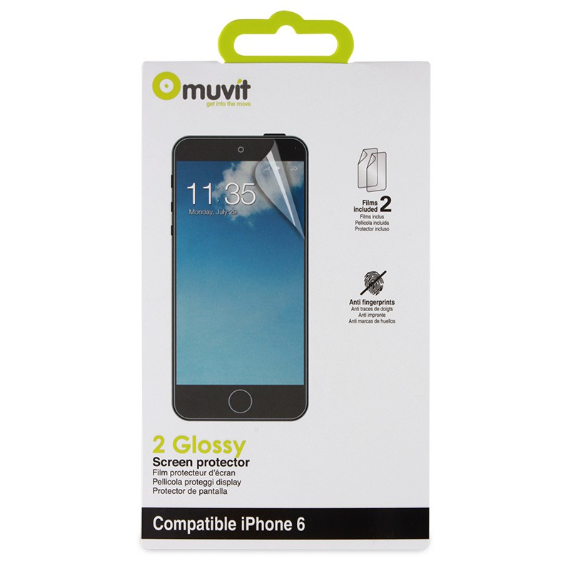 Muvit Screenprotector 2-pack Glossy iPhone 6 - 2