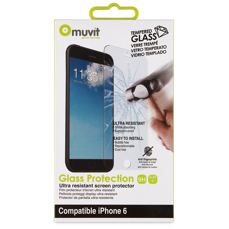 Muvit Screenprotector Tempered Glass iPhone 6 - 2