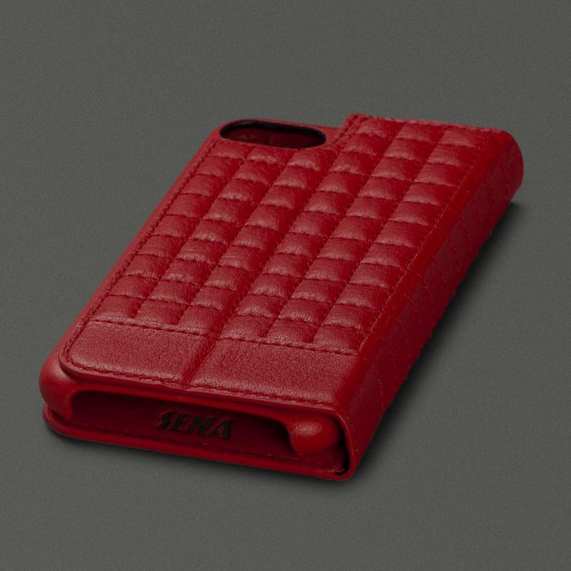 Sena Isa Quilted Wallet iPhone 7 Red - 4