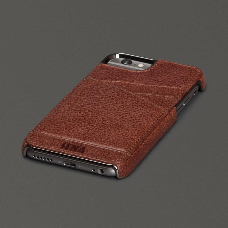 Sena Lugano Wallet iPhone 6 Plus Brown - 1