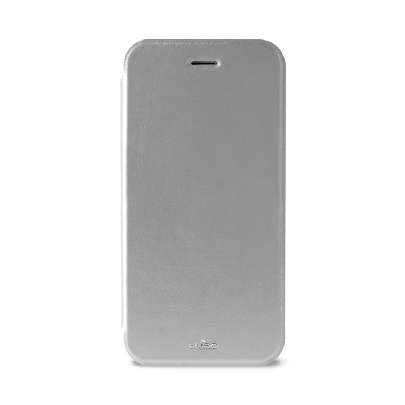 Puro - Eco Leather Wallet iPhone 6 Silver - 1