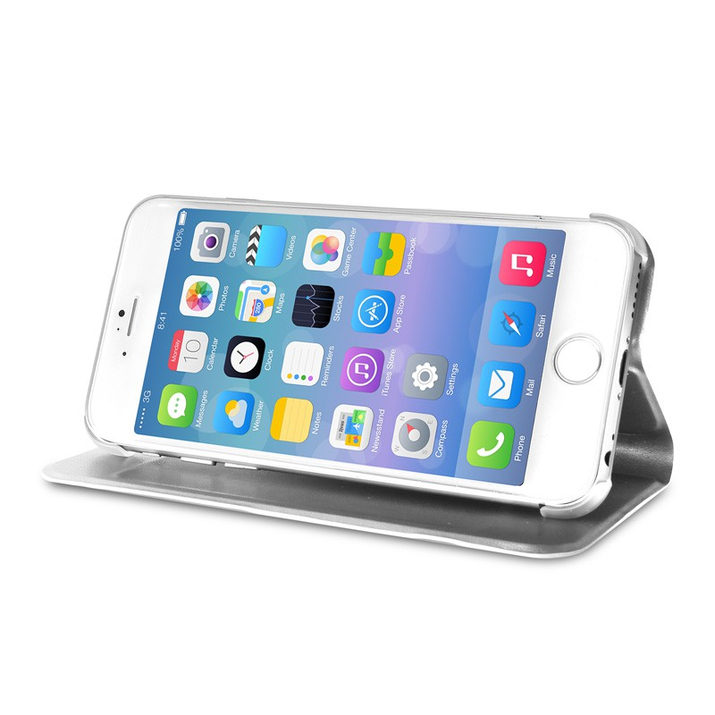 Puro Eco Leather Wallet iPhone 6 Silver - 5