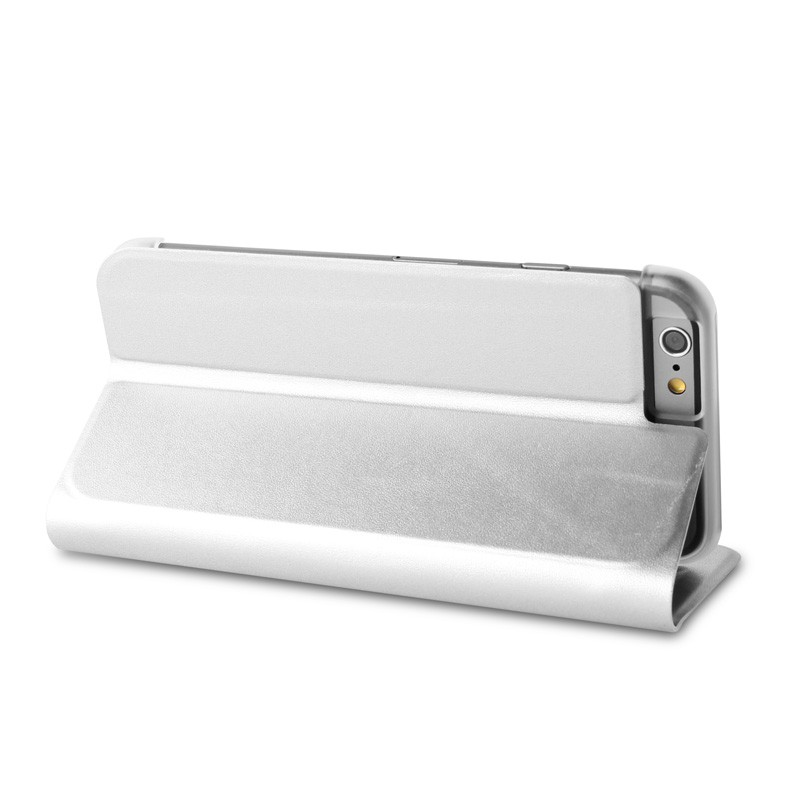 Puro Eco Leather Wallet iPhone 6 Silver - 6
