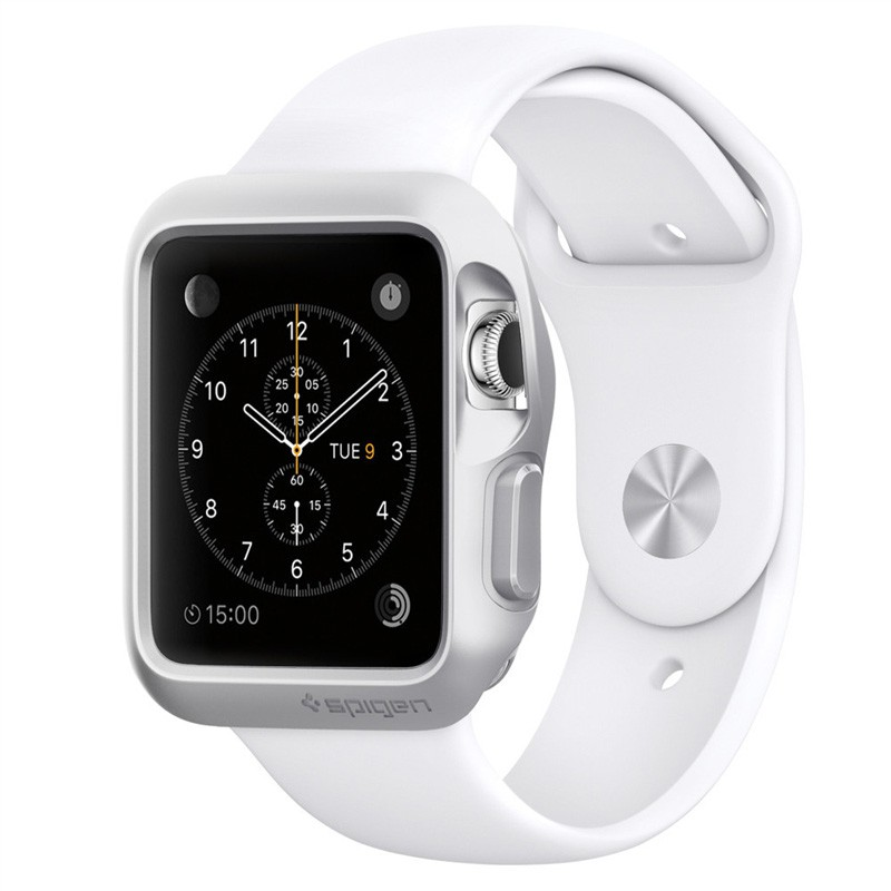 Spigen Slim Armor Apple Watch 38mm Silver - 1