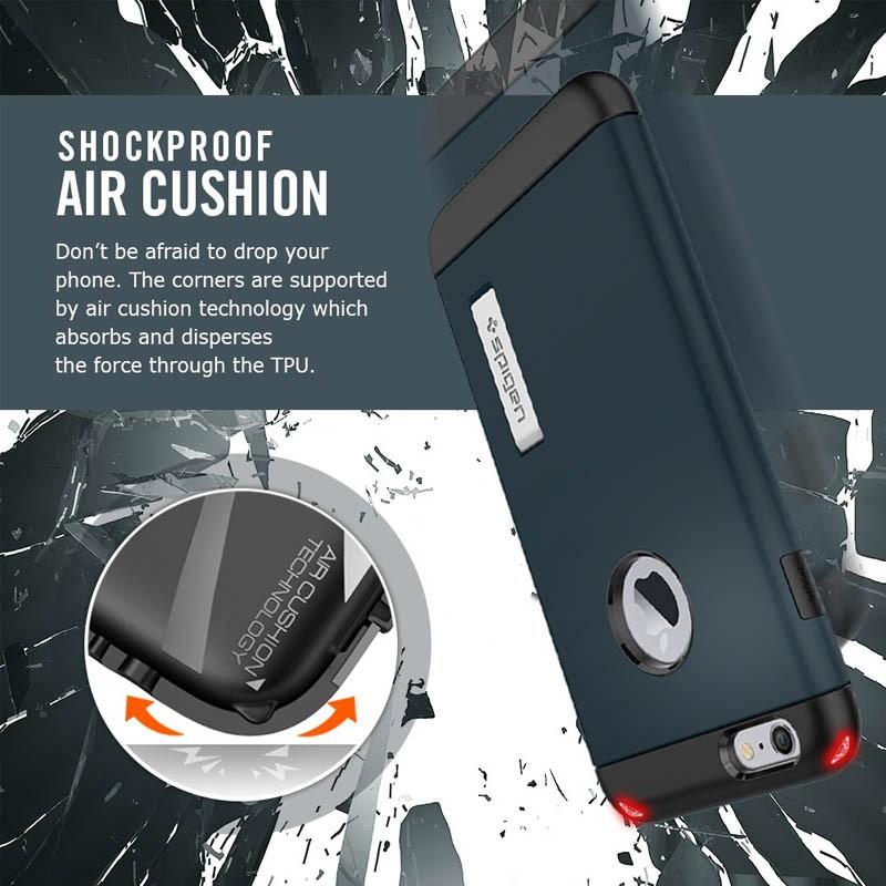 Spigen Slim Armor Case iPhone 6 Plus Satin Silver - 4