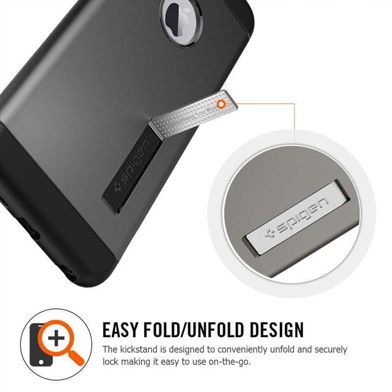 Spigen Slim Armor Case iPhone 6 Plus Satin Silver - 5