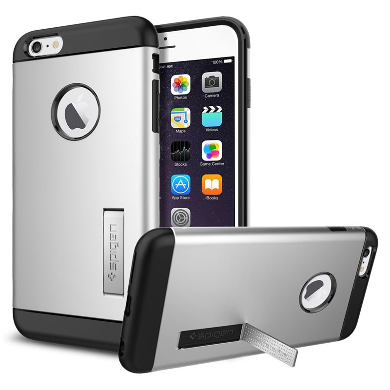 Spigen Slim Armor Case iPhone 6 Plus Satin Silver - 1