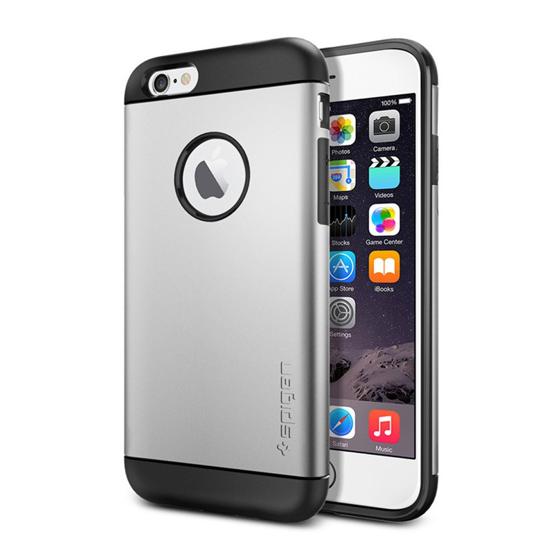 Spigen Slim Armor Case iPhone 6 Satin Silver - 1