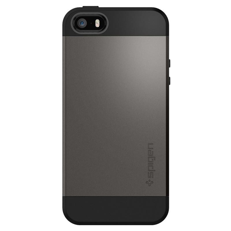 Spigen Slim Armor Case iPhone SE / 5S / 5 Gunmetal - 1