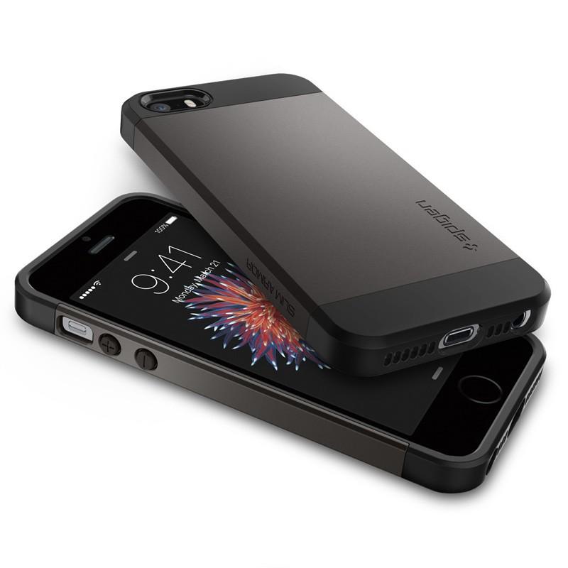 Spigen Slim Armor Case iPhone SE / 5S / 5 Gunmetal - 3