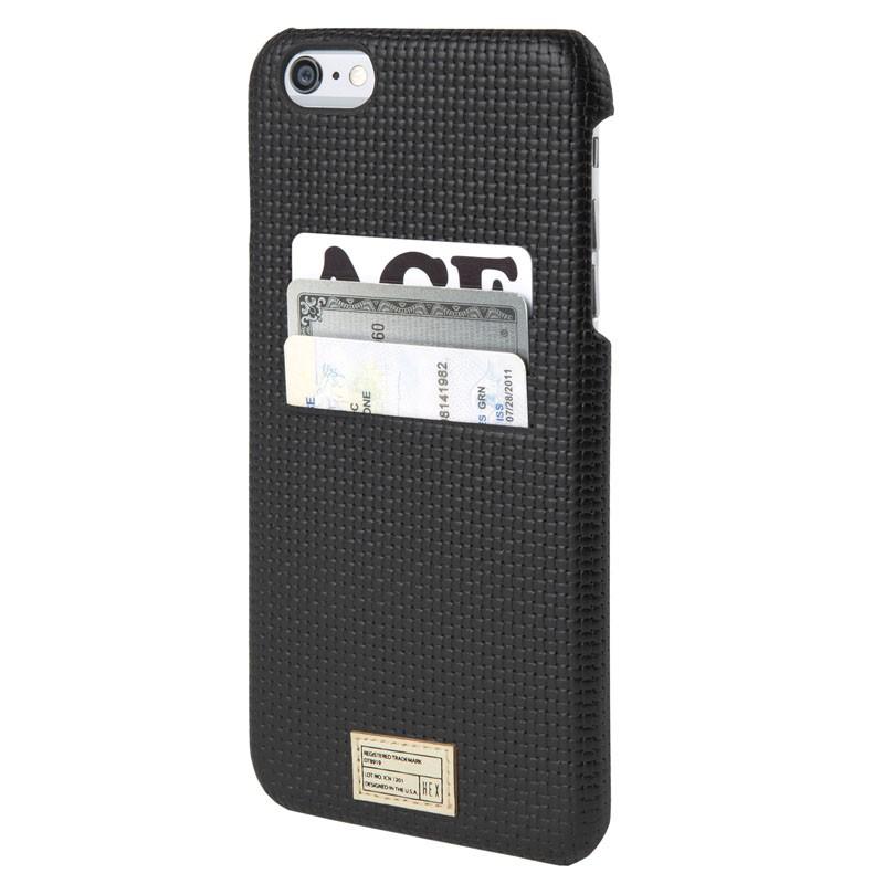 HEX Solo Wallet Case iPhone 6 Plus Black Woven - 1