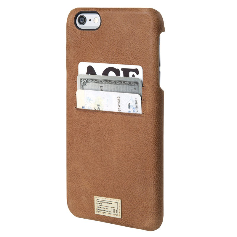 HEX Solo Wallet Case iPhone 6 Plus Dressed Brown - 1