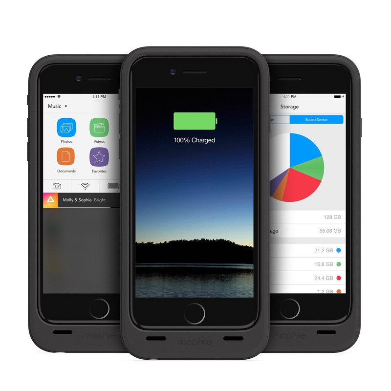 Mophie Space Pack 64GB iPhone 6 Black - 4