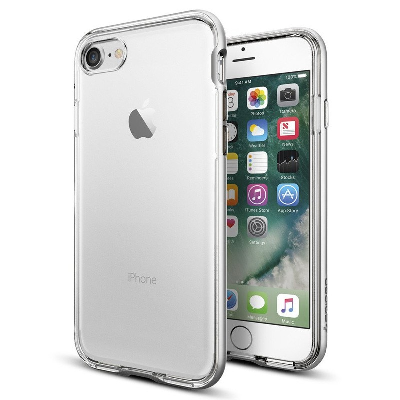 Spigen Neo Hybrid Crystal iPhone 7 Silver/Clear - 1