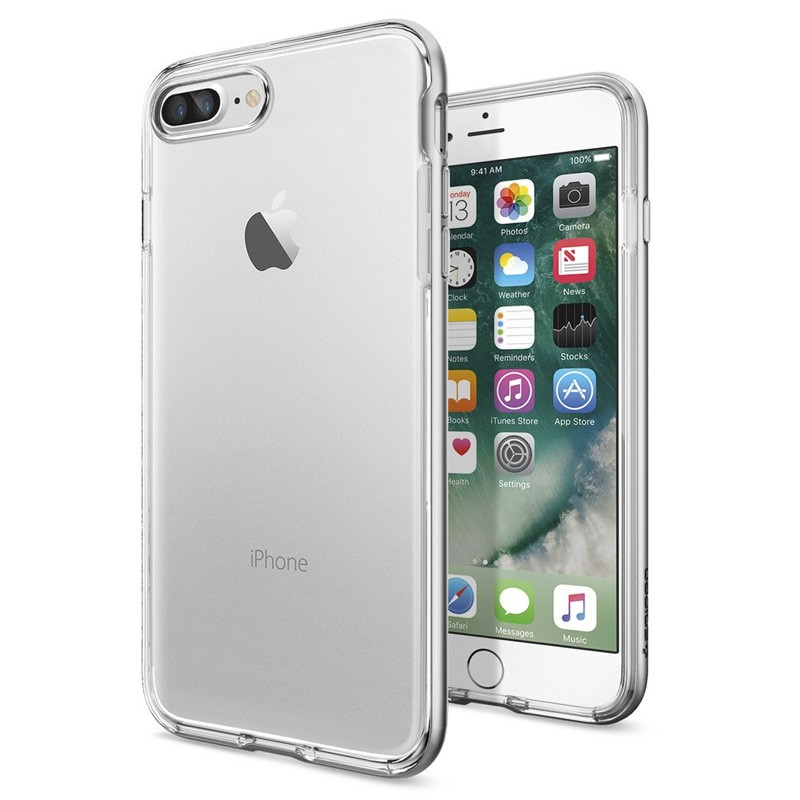 Spigen Neo Hybrid Crystal iPhone 7 Plus Satin Silver/Clear - 1