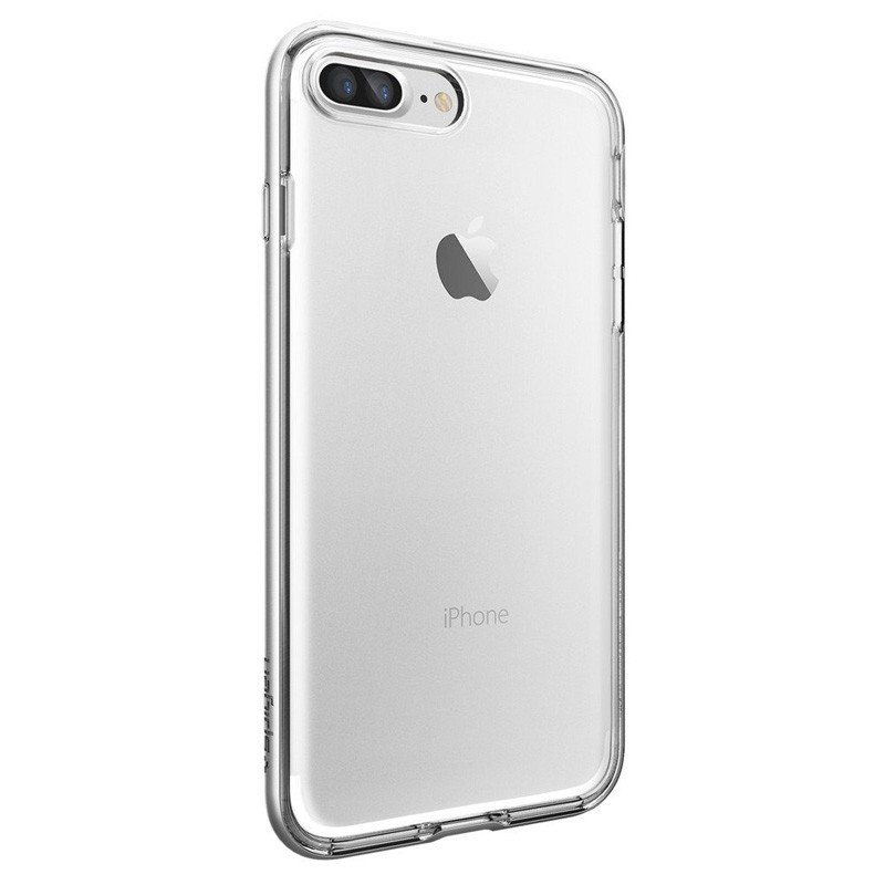 Spigen Neo Hybrid Crystal iPhone 7 Plus Satin Silver/Clear - 5