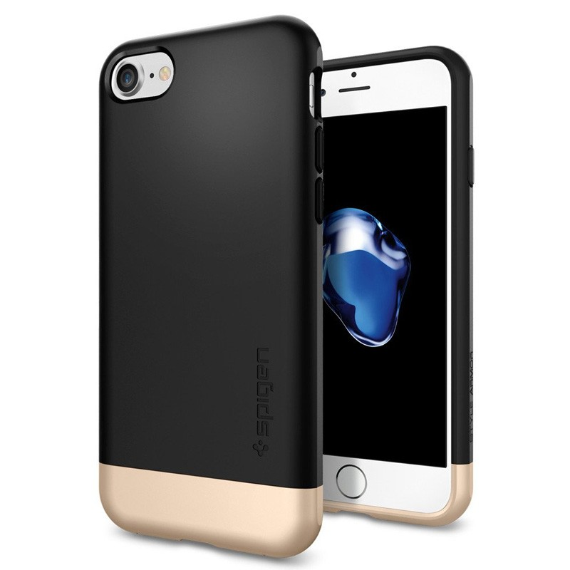 Spigen Style Armor Case iPhone 7 Black/Gold - 1