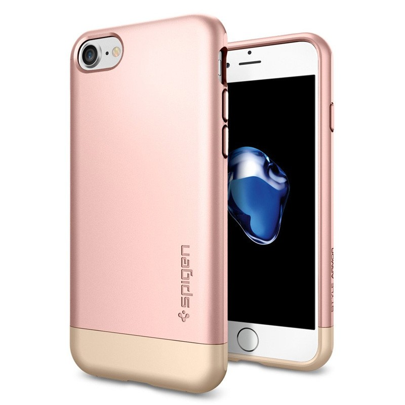 Spigen Style Armor Case iPhone 7 Rose Gold/Gold - 1