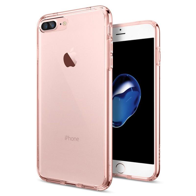 Spigen Ultra Hybrid iPhone 7 Plus Rose Gold/Clear - 1