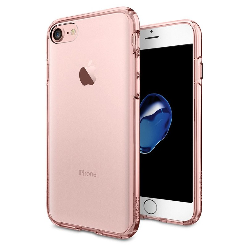 Spigen Ultra Hybrid iPhone 7 Rose Gold/Clear - 1