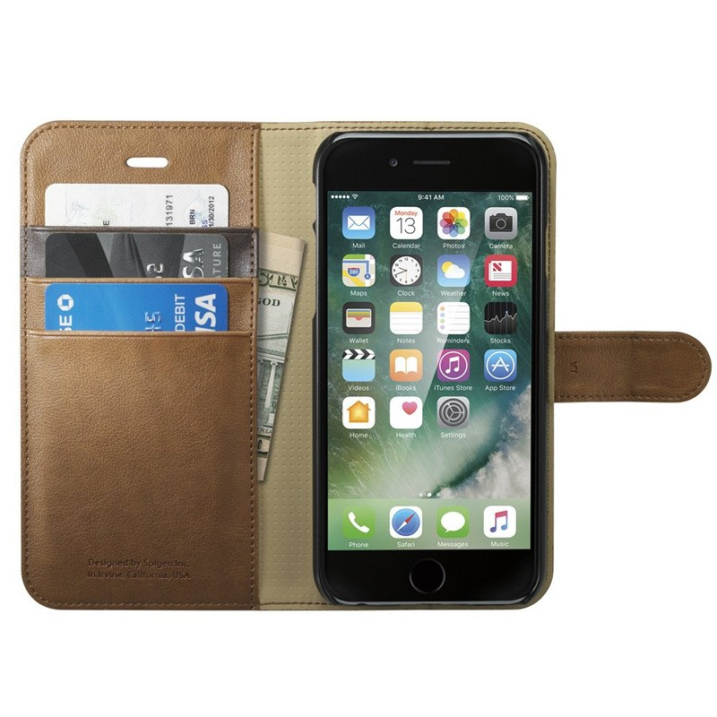 Spigen Wallet S Case iPhone 7 Brown - 1