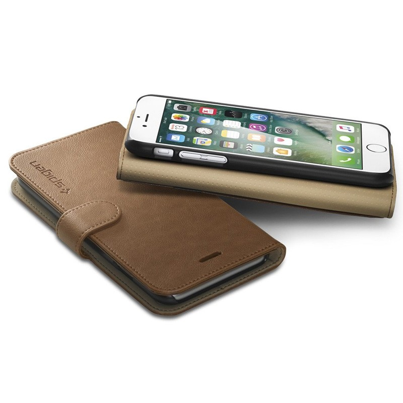 Spigen Wallet S Case iPhone 7 Brown - 3