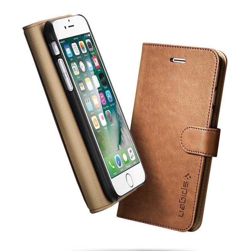 Spigen Wallet S Case iPhone 7 Brown - 5