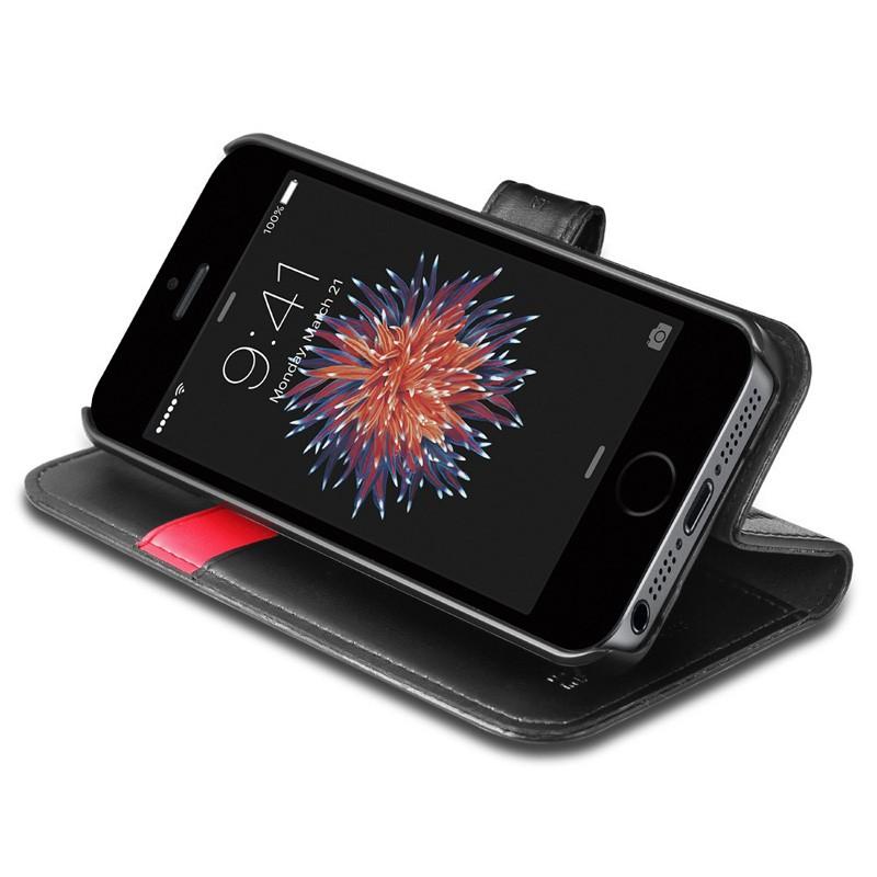 Spigen Wallet S Case iPhone SE / 5S / 5 Black - 2