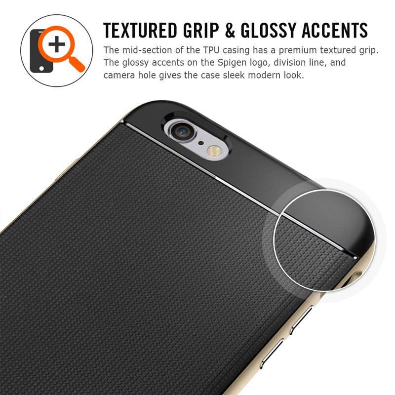 Spigen Neo Hybrid Case iPhone 6 Plus Gunmetal - 7