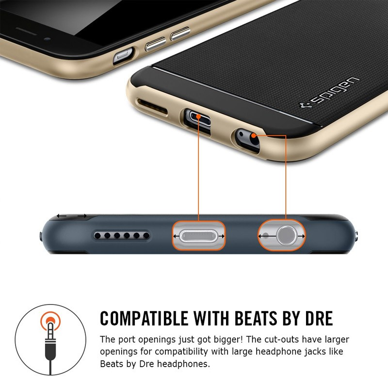 Spigen Neo Hybrid Case iPhone 6 Gunmetal - 5