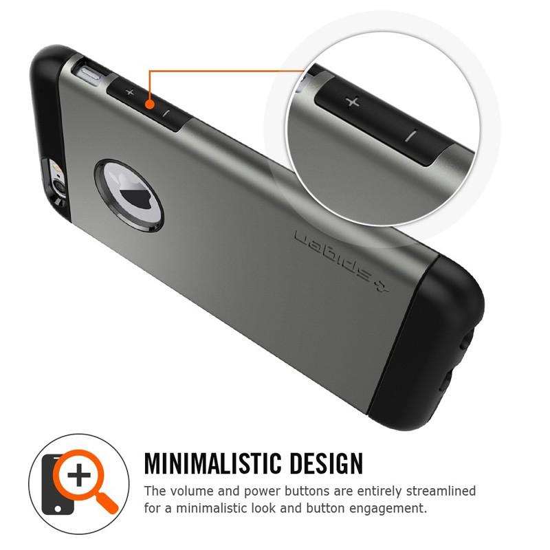 Spigen Slim Armor Case iPhone 6 Gunmetal - 8