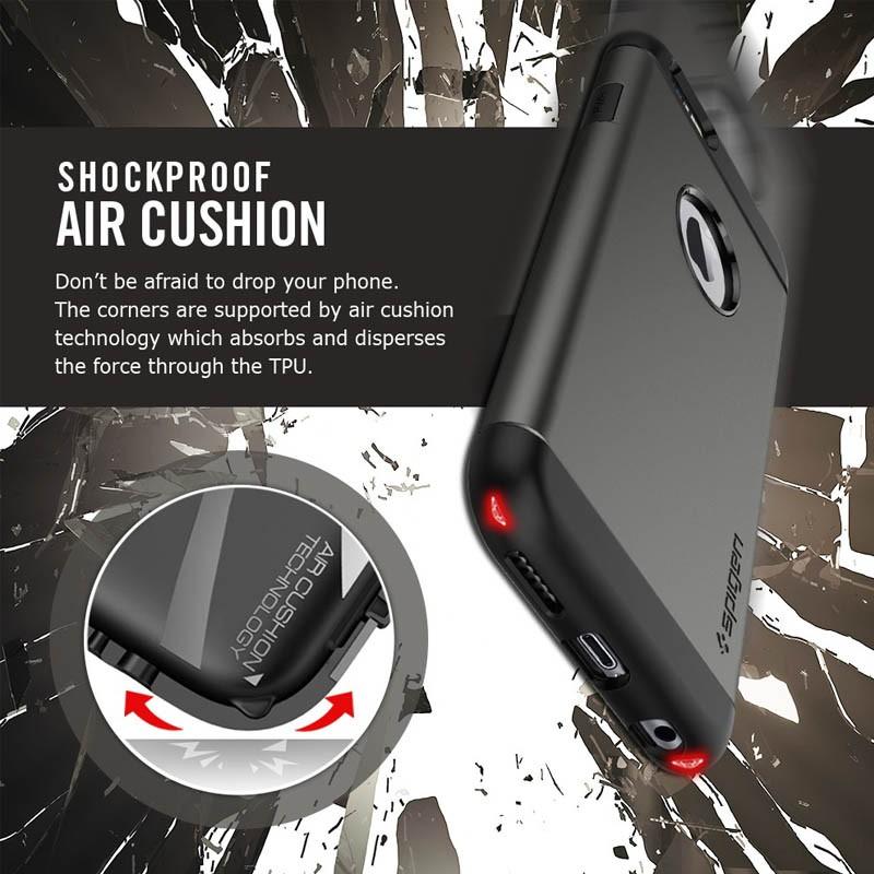 Spigen Slim Armor Case iPhone 6 Metal Slate - 3