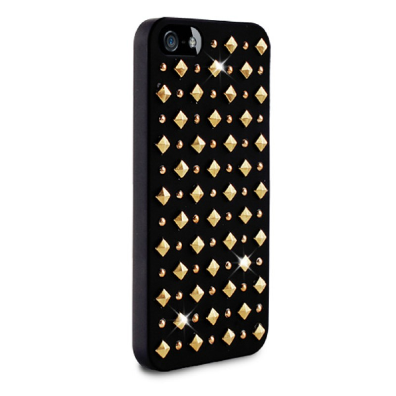 Puro Studs Backcover iPhone 5/5S Black - 2