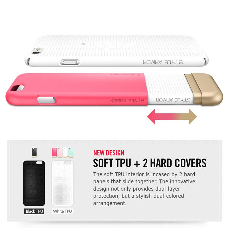 Spigen Style Armor Case iPhone 6 Pink/Clear - 4