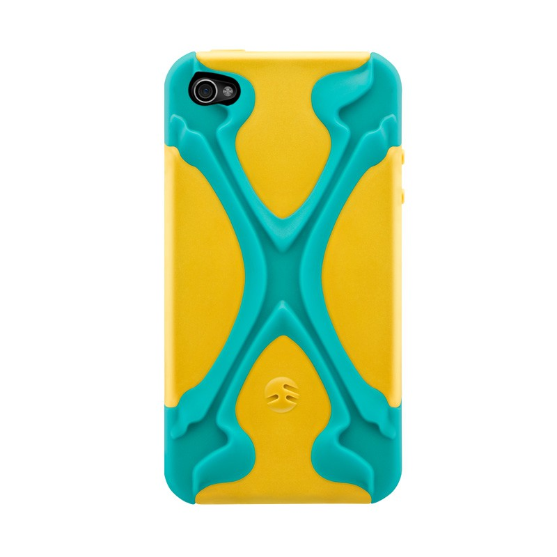 SwitchEasy Rebel X iPhone 4(S) Yellow/blue - 1