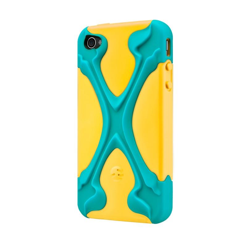SwitchEasy Rebel X iPhone 4(S) Yellow/blue - 2