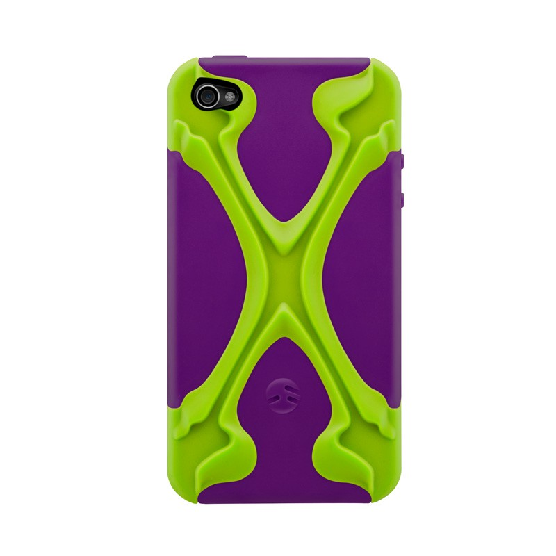 SwitchEasy Rebel X iPhone 4(S) Lime/purple - 1