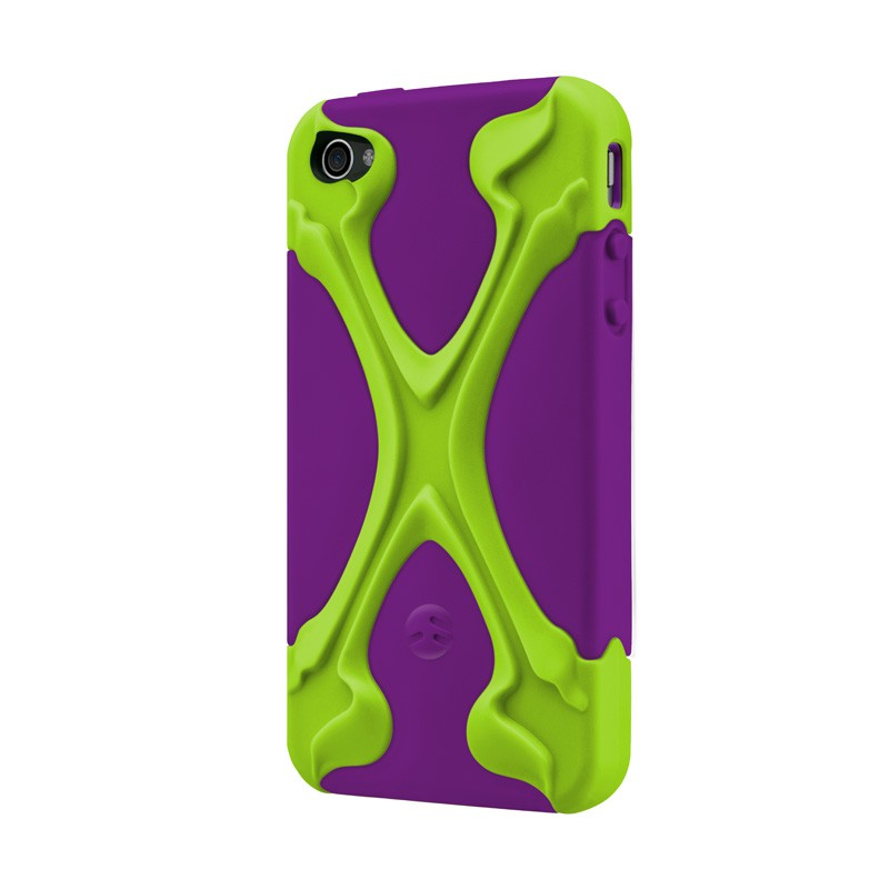 SwitchEasy Rebel X iPhone 4(S) Lime/purple - 2