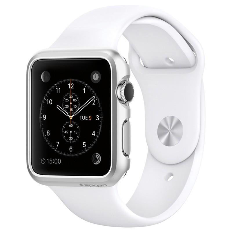 Spigen Thin Fit Case Apple Watch 38mm Silver - 1