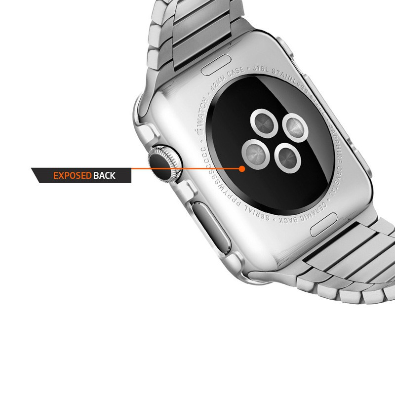 Spigen Thin Fit Case Apple Watch 38mm Silver - 6